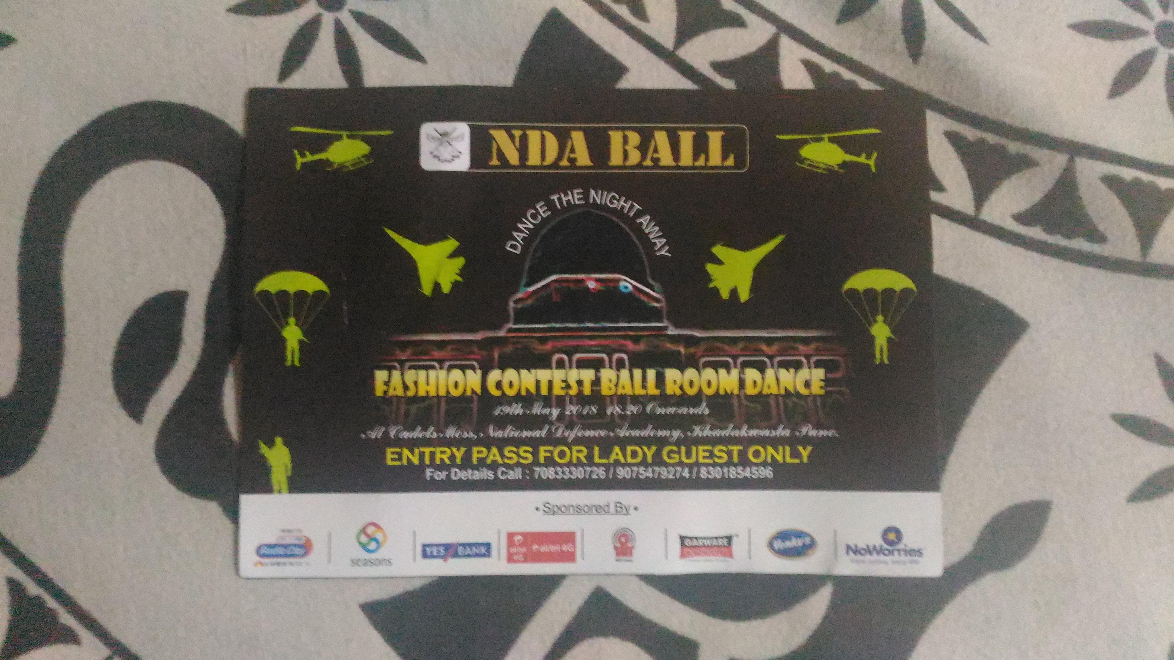 NDA Ball Entry Pass